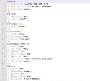 CSS пример